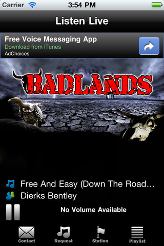 BadlandsFM APP Screen